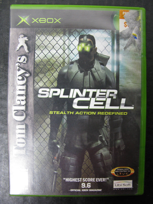 Xbox Tom Clancy's Splinter Cell Stealth Action Redefined