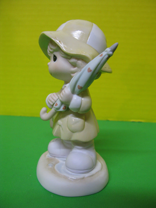 """I'm There For You Rain or Shine"" Porcelain Figurine"