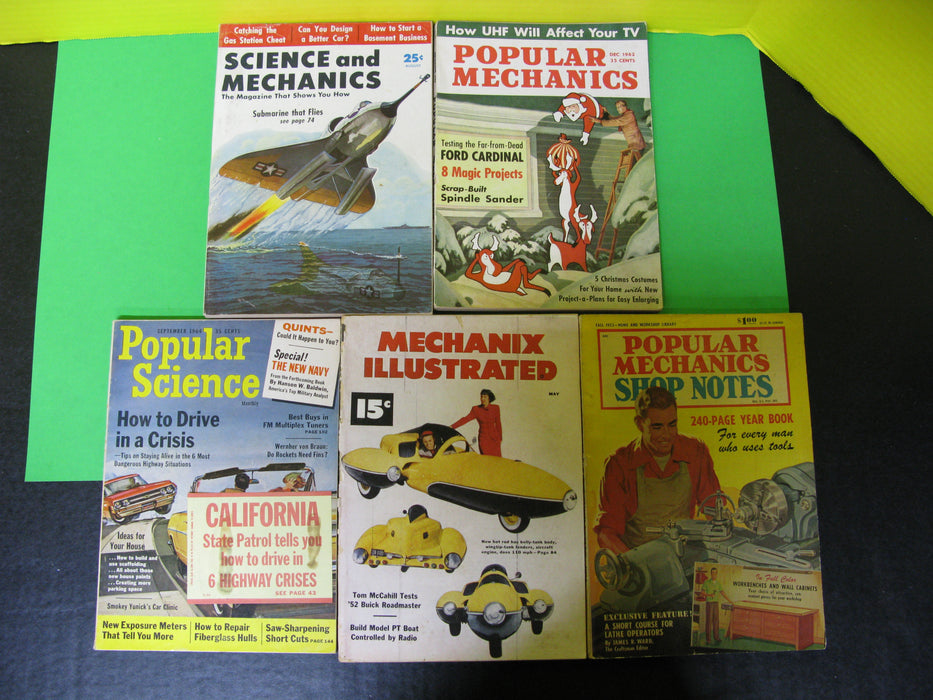 5 Popular Mechanics Magazines