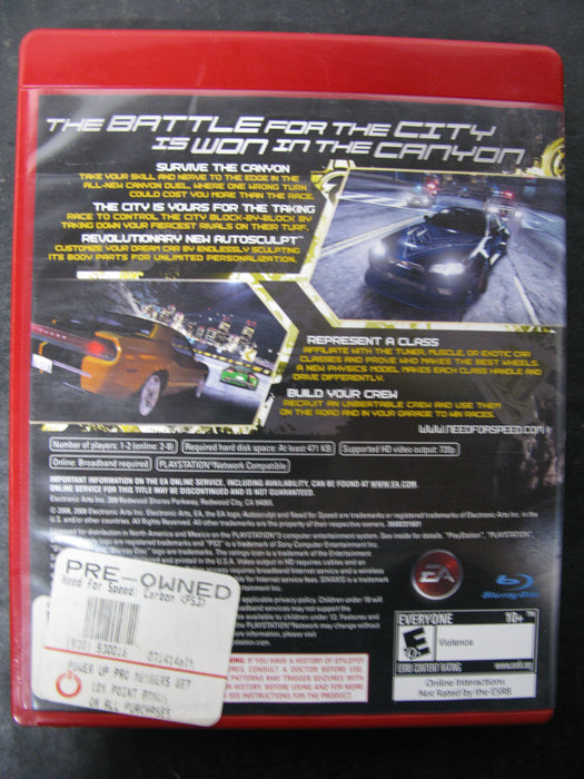 PS3 Need For Speed Carbon