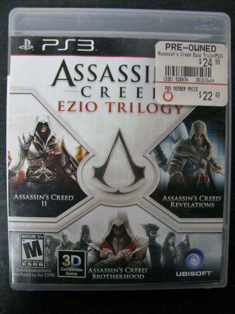 Ps3 Assassin S Creed Ezio Trilogy The Pop Culture Antique Museum