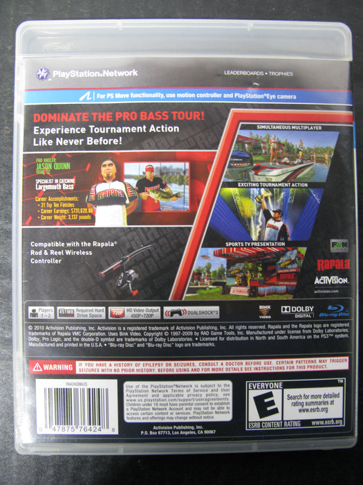 PS3 Rapala Pro Bass Fishing