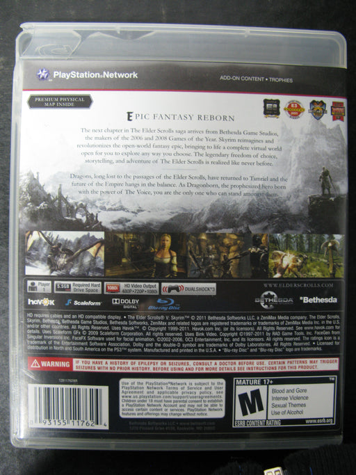 PS3 The Elder Scrolls V Skyrim