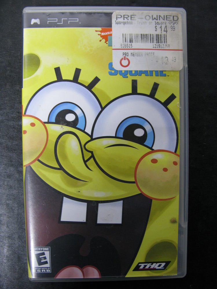 PSP SpongeBob SquarePants Truth or Square