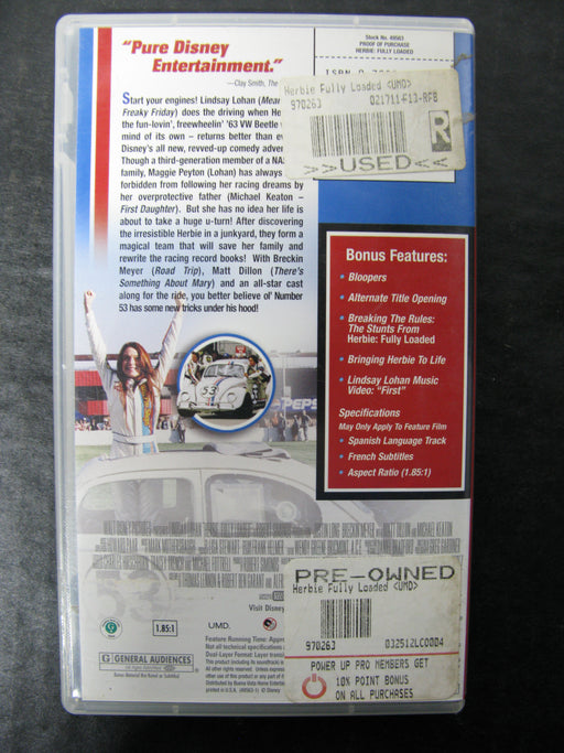 PSP UMD Video Herbie Fully Loaded