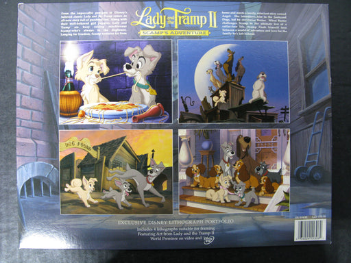 Walt Disney Lady and the Tramp II Scamp's Adventure - Exclusive Disney Lithograph Portfolio