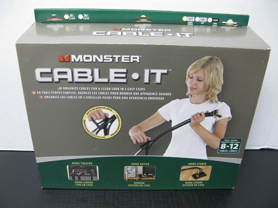 Monster Cable-It (Organize cables for a clean look in 3 easy steps)