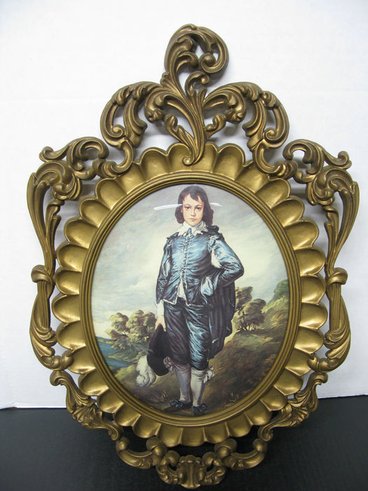 Vintage Picture Frame Made in Italy of Boy (Plastic)