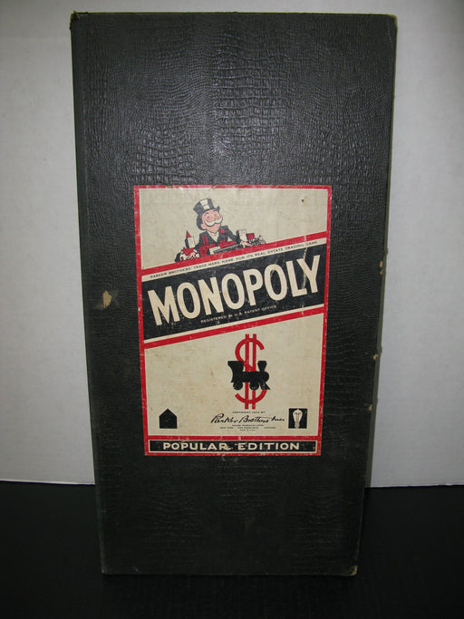 Popular Edition Monopoly Board Game 1954 edition