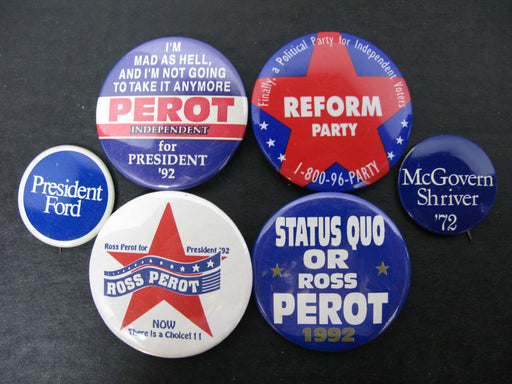 Ross Perot for President Pins