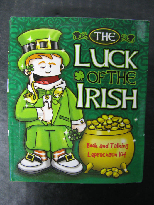 The Luck of the Irish Book and Leprechaun