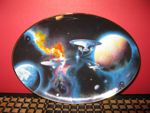 """To Boldly Go"" Star Trek Collectors Plate"
