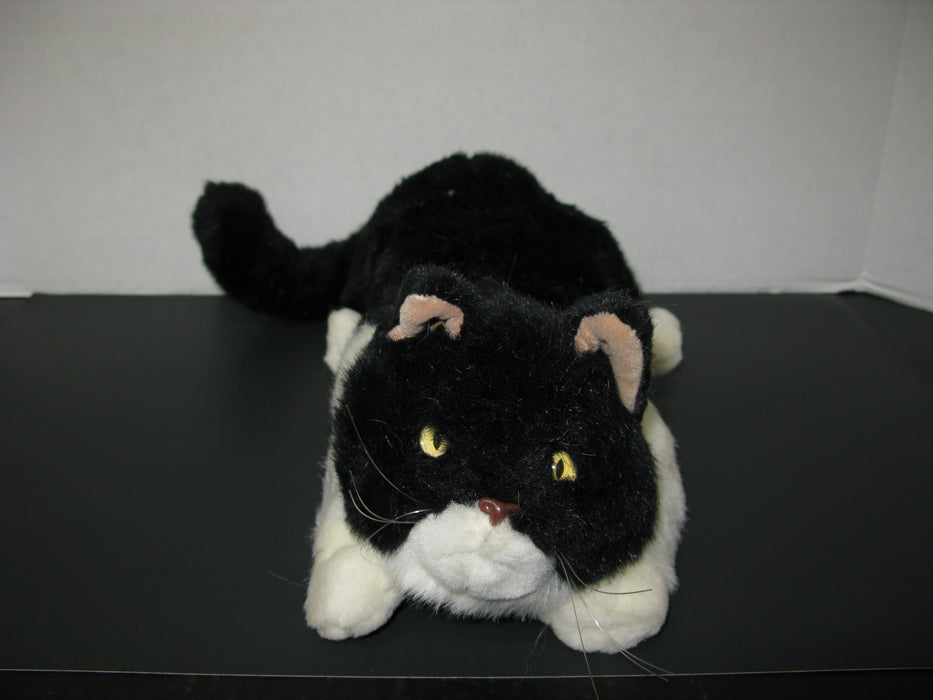 Black and White Plush Cat