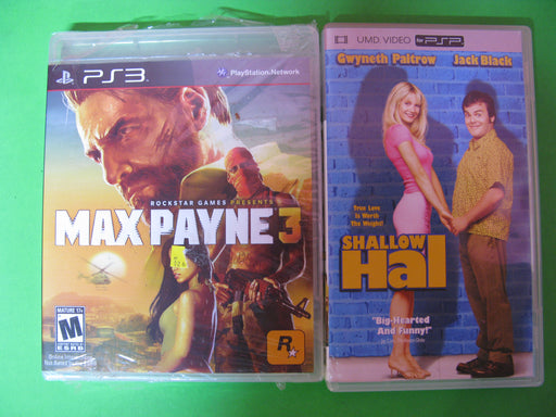 PS3 Max Payne 3 and PSP Shallow Hal UMD.Video