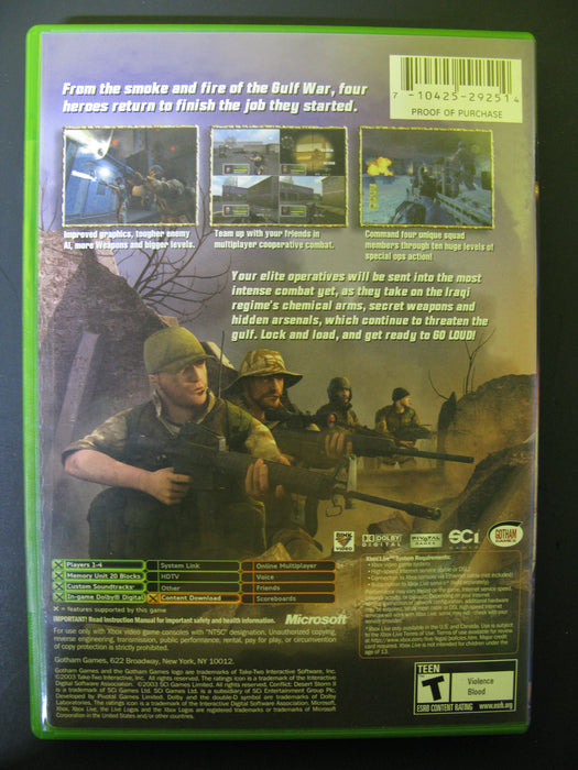 Xbox Conflict:Desert Storm II Back to Baghdad