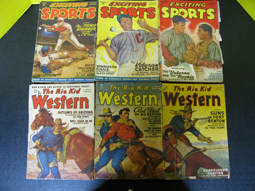 Exciting Sports & The Rio Kid Western Magazines