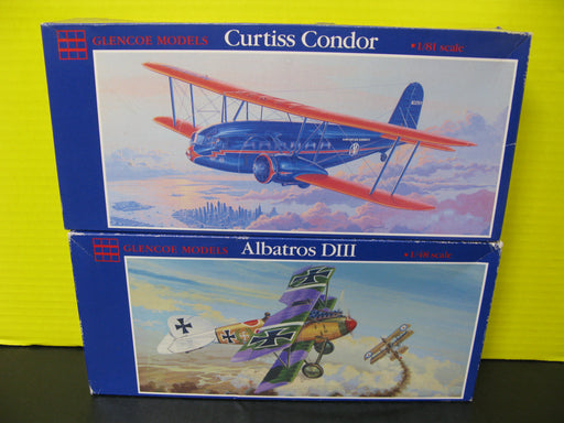 Curtiss Condor and Albatros DIII Plane Model Kits