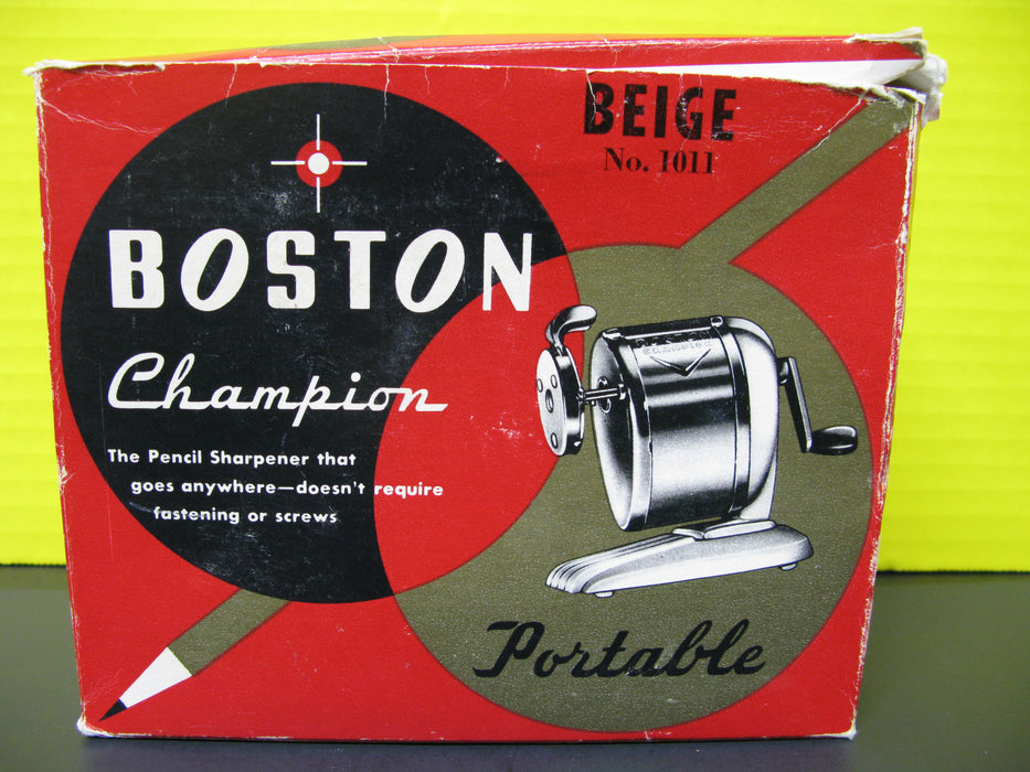 Beige No.1011 Boston Champion Pencil Sharpener (Portable)