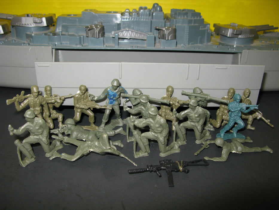 Giant Toy Battleship with Army Figures