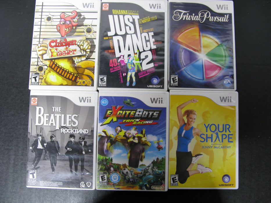 Lot of 56 Wii Games