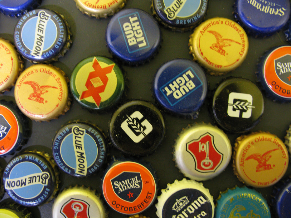 Assortment of Beer Bottle Caps