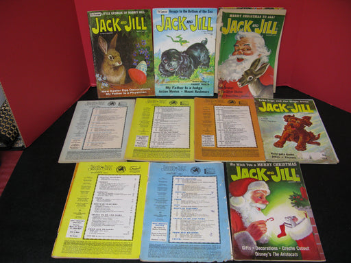 10 Jack and Jill Magazines (1966/1967/1968/1969/1970)