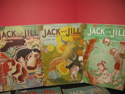 13 Jack and Jill Magazines (1938/1939)