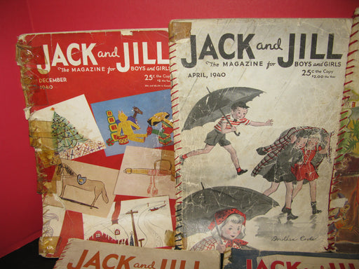 9 Jack and Jill Magazines (1940)