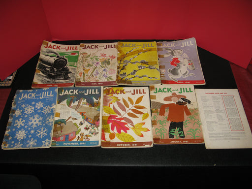 9 Jack and Jill Magazines (1941)