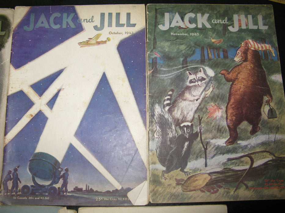 11 Jack and Jill Magazines (1943)