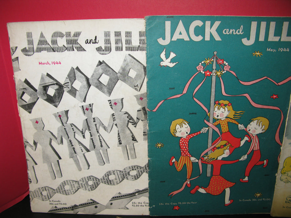 10 Jack and Jill Magazines (1944)