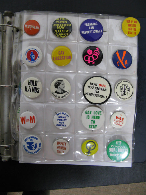 Polictical and LGBT Pins From the 20th Century