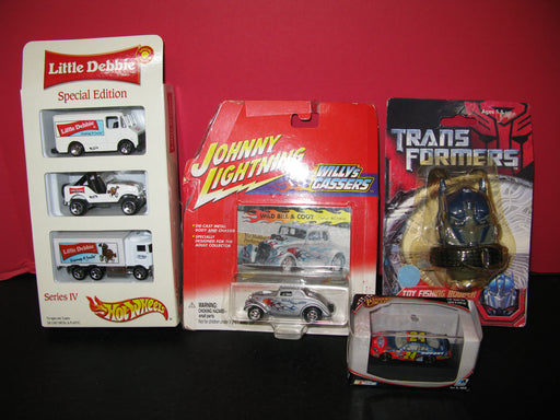 Race Cars and Toy Fishing Bobber