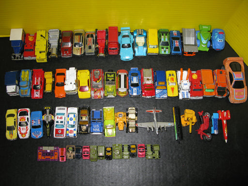 Lot of Little Cars and Other Vehicles