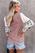 Load image into Gallery viewer, Contrast Printed Sleeve Knit Sweatshirts