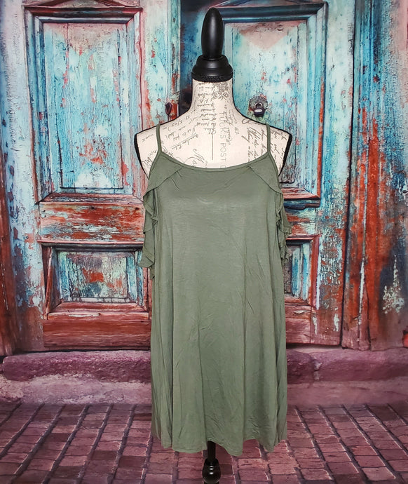 Open Shoulder Jersey Tunic Top