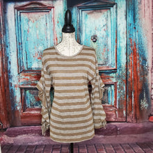 Load image into Gallery viewer, Brown Striped Blouse