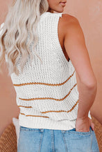 Load image into Gallery viewer, Knit Tank Top with Stripes