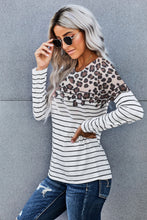 Load image into Gallery viewer, Striped Print Long Sleeve Top