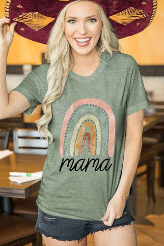 mama Letter Graphics Print T-shirt