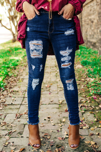 Get Ripped Mid Rise Denim Pants