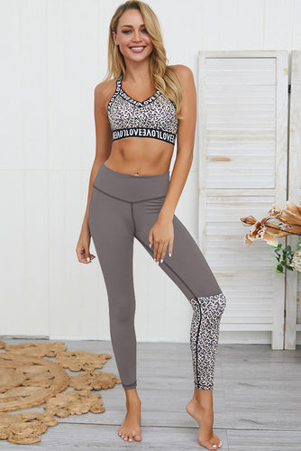 Leopard Patchwork Yoga Set