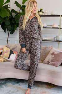Leopard Printed Button Pajamas Set