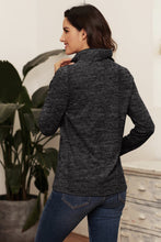 Load image into Gallery viewer, Charcoal Quarter Zip Pullover Sweatshirt