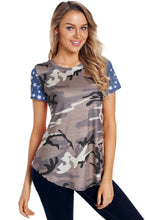 Load image into Gallery viewer, Short Sleeve Camo Flag Tee