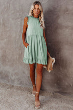 Load image into Gallery viewer, Pocketed Ruffle Babydoll Dress
