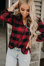 Load image into Gallery viewer, Buffalo Plaid Button Pocket Blouse