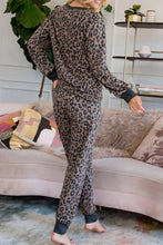 Load image into Gallery viewer, Leopard Printed Button Pajamas Set