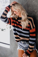 Load image into Gallery viewer, Striped Drop Shoulder Sweater