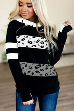 Load image into Gallery viewer, Patchwork Inclined Zipper Thumb Hole Long Sleeve Hoodie